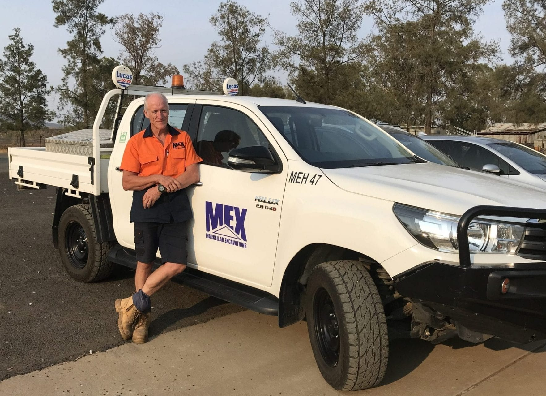 Forsythes Training project management course graduate Tim MacKellar in the field