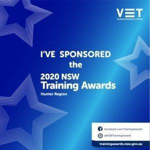 NSW Training Awards - Hunter sponsorship tile