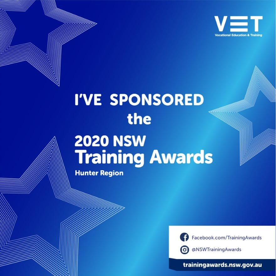 NSW Training Awards - Hunter sponsorship tile